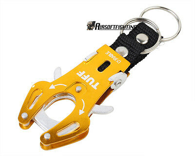 Small Quick Release Mountaineering Aluminum Alloy Tiger Buckle/Keychain Golden