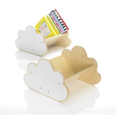 Childrens Cloud Shaped Wooden Bookcase Display Furniture. Storage of ~20 books