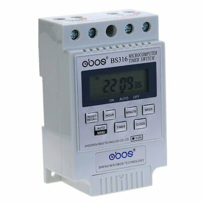 7 Days Programmable  TIMER SWITCH Relay Control AC 220V 50HZ/60HZ Din Rail Mount