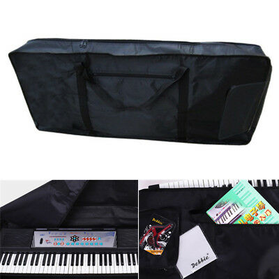 61Key Keyboard Electronic Piano Bag Case Carry Oxford Cloth Black Tote Backpack