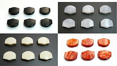 6p x Plastic GOTOH guitar machine Tuner Mini Buttons-Black/white/Red/Invory-FR17
