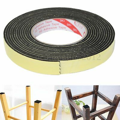 5m Black Single Sided Self Adhesive Foam Tape Closed Cell 20mm Wide x 3mm HME