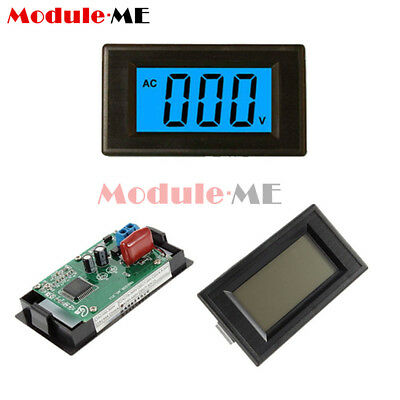 2-wire 3 1/2 Digital Blue LCD AC 80-500V Volt Panel Meter voltage power supply M