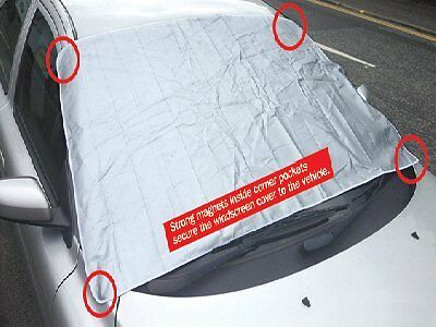 Magnetic Windscreen Cover Frost ICE Snow Protector for VAUXHALL TIGRA RED 04-09
