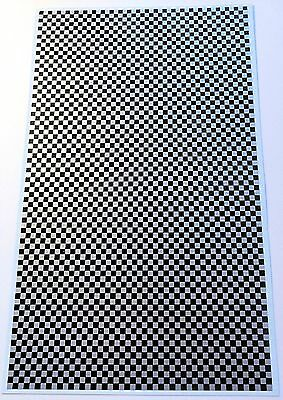 Schachbrettmuster Bogen Checkered Pattern black & silver 1:32 Decal Abziehbild