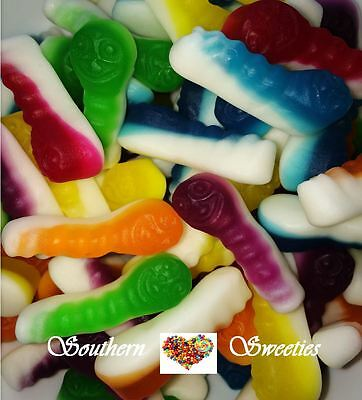 1Kg Coloured Witchetties Yellow Red Green White Purple Blue Lollies Gummy Candy