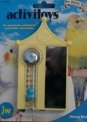 Strong Bird Interactive Toy With Mirror & Bell For Parakeets, Cockatiels