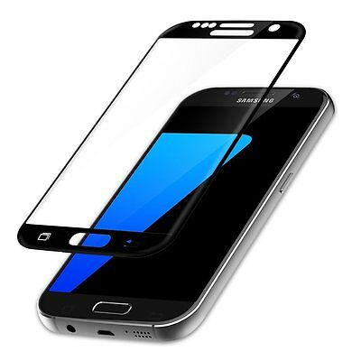 Full Tempered Glass Screen Protector for Samsung Galaxy S7 SM-G930W8 Black