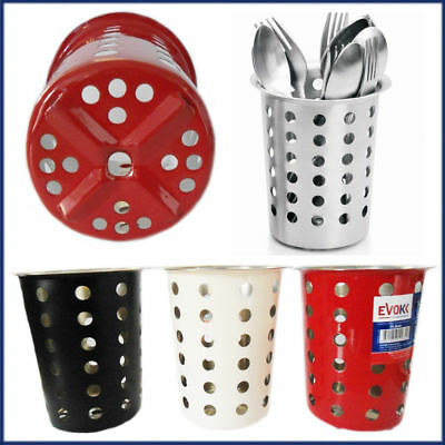 Stainless Steel Cutlery Caddy Holder Pot Kitchen Washing Up Storage Drainer
