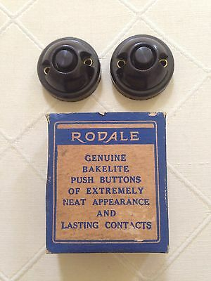 Vintage Rodale Bakelite Push Buttons FREE SHIPPING