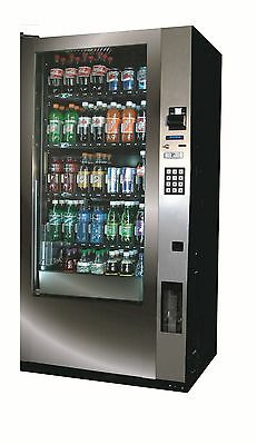 New Royal Vendors RVV500 Glass Front Soda Machine,Coinco Mech & Bill Acceptor