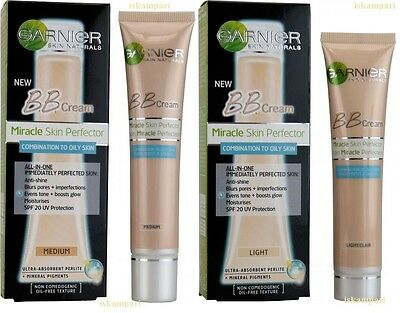 NEW GARNIER Miracle Skin Perfector BB Cream For Combination To Oily Skin 40ml