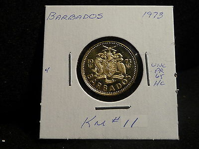 Barbados: 1973   5 Cents  Coin  Proof  Hc.   (Unc.)    (#2399)  Km # 11