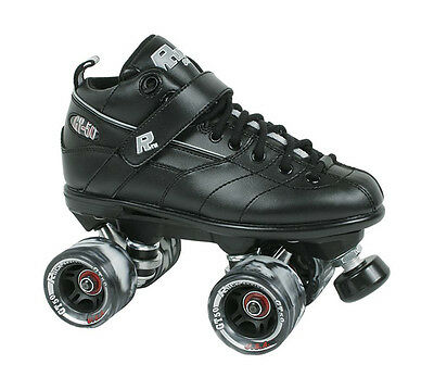 Sure-Grip GT-50 Mens/Ladies Recreational / Derby Roller Skates - Black - Size 3