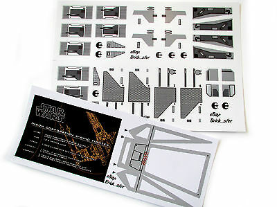 CUSTOM STICKERS for LEGO 7191 X-wing fighter (full set) ,Displays, C/builds, Etc