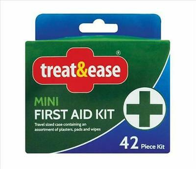 42pc first aid kit mini travel compact case new home office work car sport aid