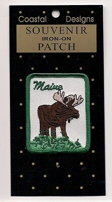 Souvenir Tourist Patch - State Of Maine -  Brake For Moose Patch