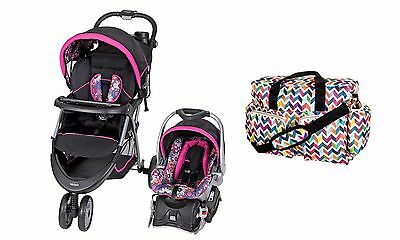New Baby Stroller Car Seat Travel System Diaper Bag Included