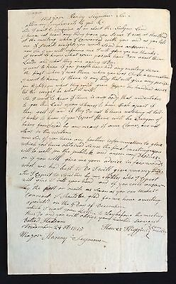1815 REVOLUTIONARY WAR Veteran Letter BATTLE SARATOGA Haddam CONNECTICUT Army