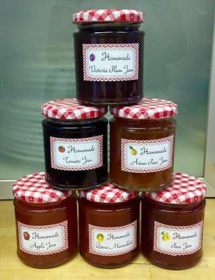 Homemade Jam-Quince Marmalade-Pear-Asian Pear-Tomato-Apple-Victoria Plum-Gingham