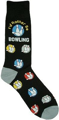 I'd Rather Be Bowling Man (5701) Socks Cotton New Gift Fun Unique Fashion Sport