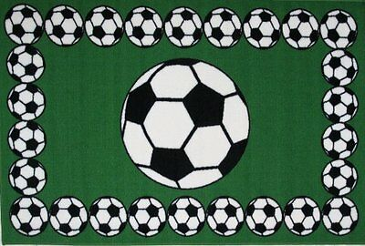 Fun Rugs Soccer Time Accent Rug, 19-Inch by 29-Inch