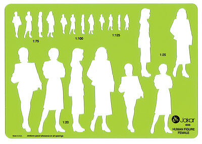 Human Figures Drawing Stencil Templates The Female and Male Body Form.