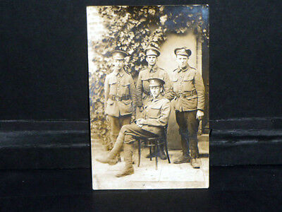 Military -WW1 Group of Soldiers r/p