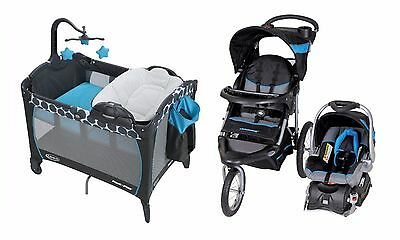Baby Trend Stroller Travel System with Car Seat Infant Graco Playard Crib Set