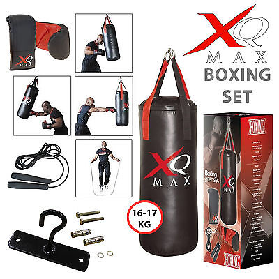 XQ Max Boxing Set 2.5ft Adult/Junior Punch Bag Training Equipment Gloves Rope