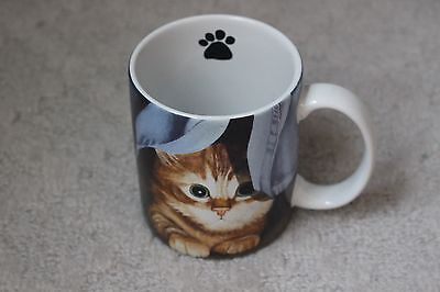 Adorable Peeking Kitten Cat Clara Coffee Mug 2005 Lang Co. Lowell Herrero