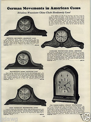1931 PAPER AD 3 Train German Maker Upright Westminster Clock Sessions