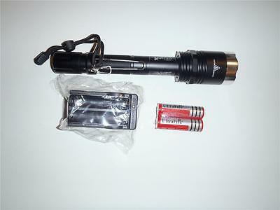 Powerful T6 CREE XML XM-L LED Flashlight Torch+18650Batteries+Charger