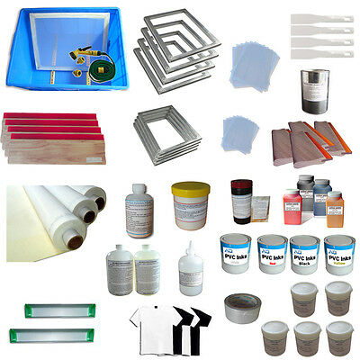4 Color Full Silk Screen Printing Materials Kit-Best Value Package 006532