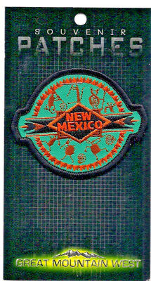 State Of New Mexico Souvenir Patch -Turquoise