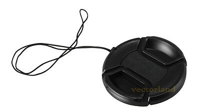 62mm Center Pinch Snap on Front Lens Cap Cover for Nikon Canon Sony DSLR camera
