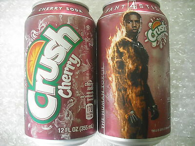 FULL 12oz can CRUSH CHERRY w FANTASTIC 4 FOUR PROMO - THE HUMAN TORCH