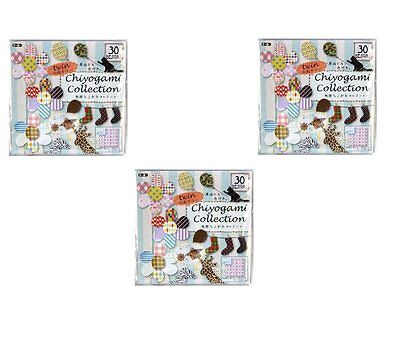 Toyo 3 pack set 30 patterns of Double side Chiyogami Collection Origami papers 1