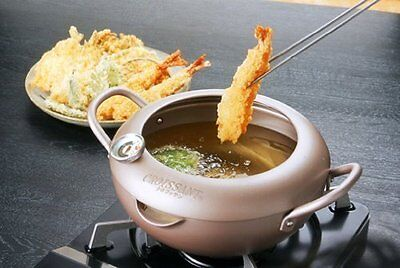 EPORAS Croissant Tenpura pot with thermometer(℃) 24cm from japan