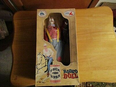 official rodeo doll PRCA/WPRA rodeo clown doll 11 in in box