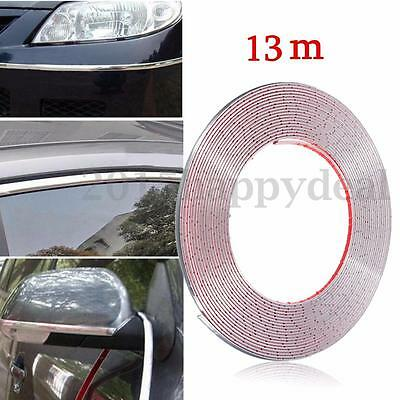 13m x 7mm Chrome Car Styling Strip Trim Moulding Cover Protector Decor Door Edge