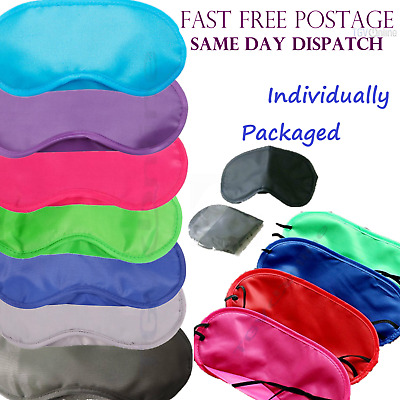 Pink - Travel Eye Mask, Sleep Sleeping Cover Rest Eyepatch Blindfold Colours