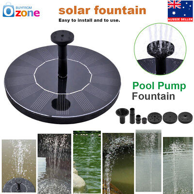 Garden Pond Solar Floating Power Panel Water Feature Pool Pump Fountain NEW