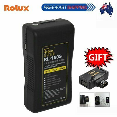 Rolux RL-160S 160Wh 14.8V Sony V-mount V-Lock Li-ion Battery for LED Video Light