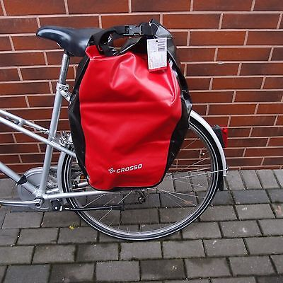 BAGS CROSSO Dry Waterproof set of Two panniers for the rear rack 2 x 30L Panners