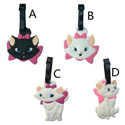 Maria Cat Rubber Travel School Luggage Tag / Bag Tag / Name Tag / Card Holder