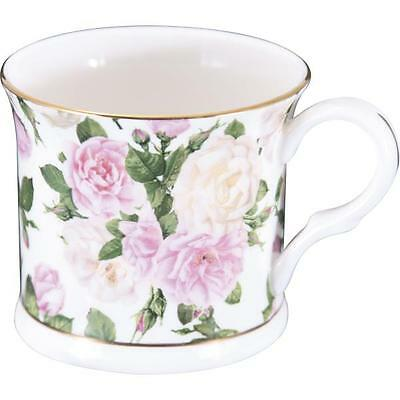 Becher, Tasse ROYAL BOUQUET Rosen weiß rosa Porzellan 295ml Creative Tops