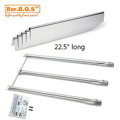 For Weber Genesis Silver/Gold B&C, Spirit 700 Grill Burner and SS Heat Plates