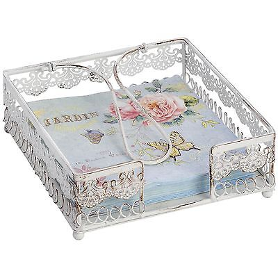 Best Quality Beautiful Cream Metal Napkin Holder Vintage Shabby Chic