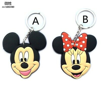 """Mickey & Minnie Mouse"" Rubber Keyring/ Keychain/ Key Holder *2 design options*"